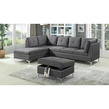 See Details - GREY SECTIONAL CHAISE