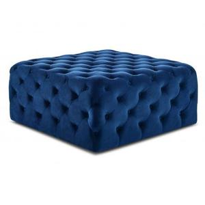 Belham Square Tufted Ottoman, Navy