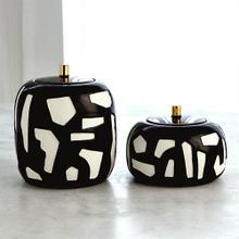 Abstract Jar-White/Black-Lg