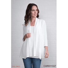 Rib Lapel Cardigan - XXL (3 pc. ppk.)
