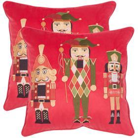 Nutcracker Pillow - Red