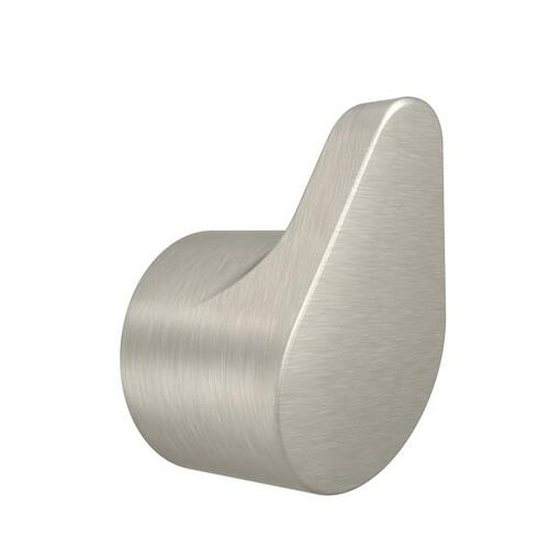 Edgestone brushed nickel single robe hook