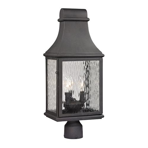 Elk - Forged Jefferson 3-Light Outdoor Post Mount in Charcoal