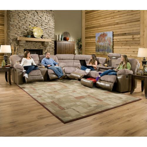 Simmons Upholstery - Double Motion Sofa W/ Features