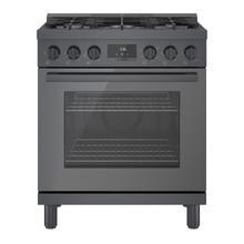 See Details - 800 Series Gas Freestanding Range 30'' Black stainless steel HGS8045UC