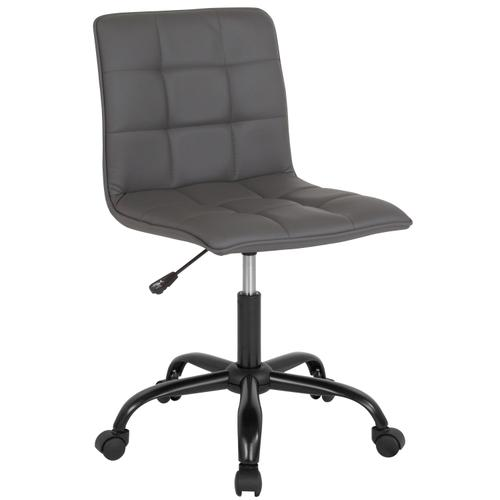 Gallery - Sorrento Home and Office Task Chair in Gray LeatherSoft