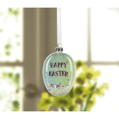 Confetti Filled Easter Egg Glass Ornaments (24 pc. ppk.)