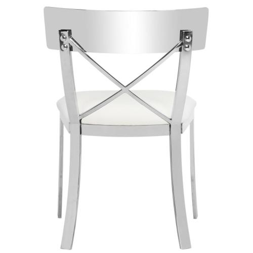 Zoey 19 Inch H Side Chair - White / Chrome
