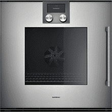 "200 series 200 series single oven Glass front in Gaggenau Metallic Width 24"" (60 cm) left-hinged"