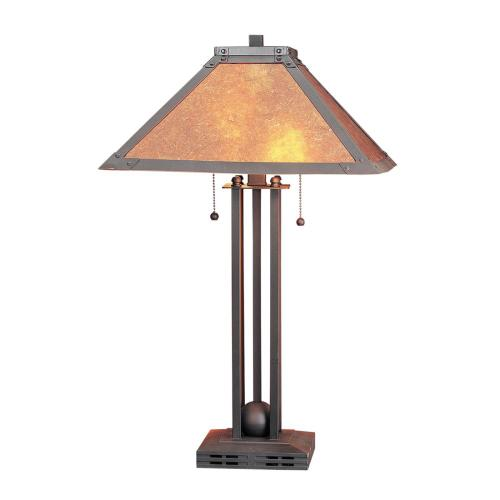 60W X 2 Table Lamp W/Mica Shade