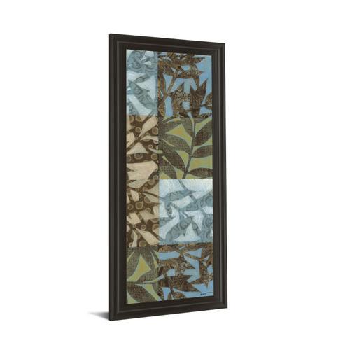 """Classy Art - """"Leaves I"""" Framed Print Wall Art"""