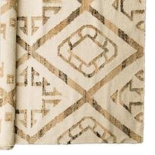 Caistor II 120 x 96 Cream/Tan Hemp and Wool Rug