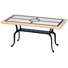 """View Product - San Remo 24x48 Rectangular Marble Coffee Table (Stone Top Only)"""""""