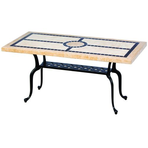 """San Remo 24x48 Rectangular Marble Coffee Table (Stone Top Only)"""""""