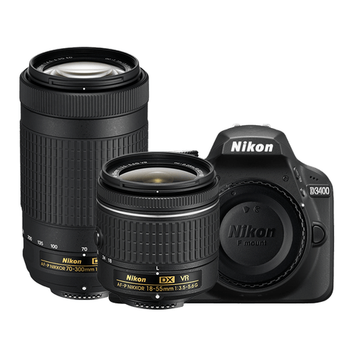 D3400 Two Lens Kit Black