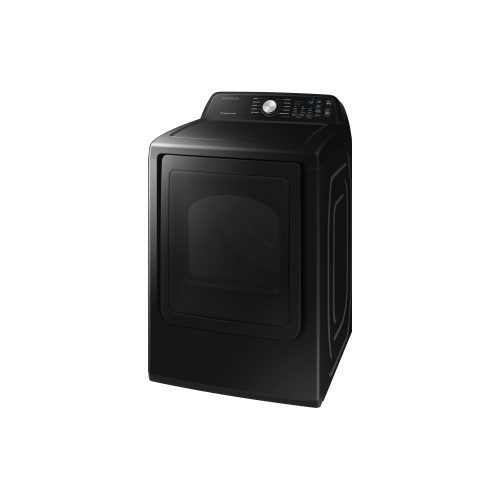 Gallery - 7.4 Cu.Ft. Electric Dryer with Premium Glass Door in Black Stainless