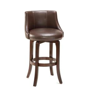 Napa Valley Swivel Barstool Brown Leather