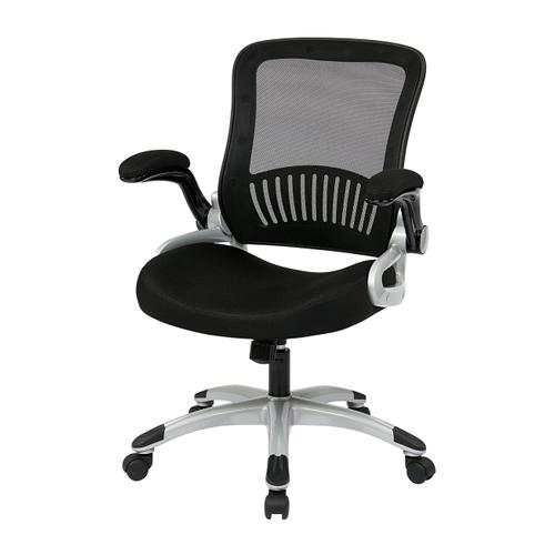Office Star - Screen Back and Bonded Leather Seat Managers Chair
