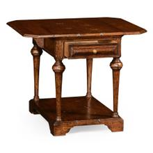 Elizabethan pembroke brown oak table