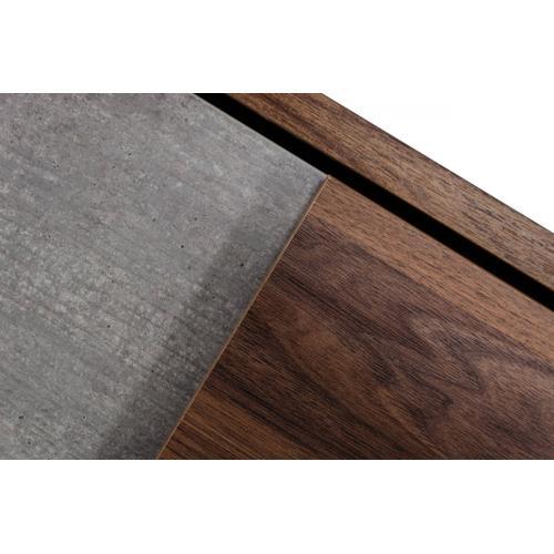 Nova Domus Palermo Italian Modern Faux Concrete & Walnut Chest
