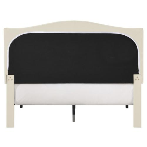 Accentrics Home - Arched, Diamond Tufted Upholstered Full Platform Bed in Beige