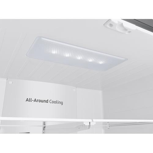 Samsung - 28 cu. ft. Large Capacity 3-Door French Door Refrigerator in Stainless Steel