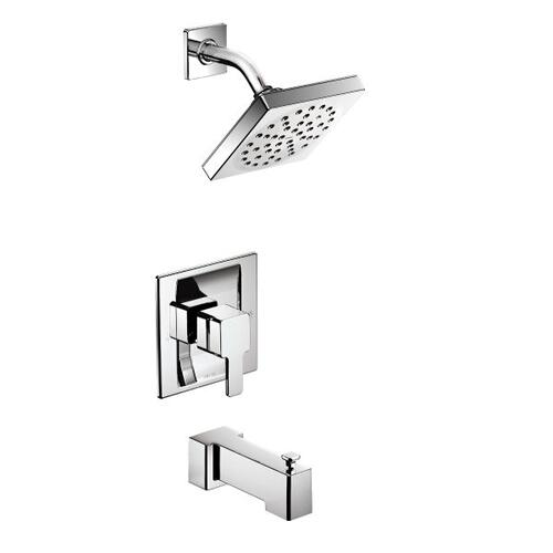 90 Degree chrome moentrol® tub/shower