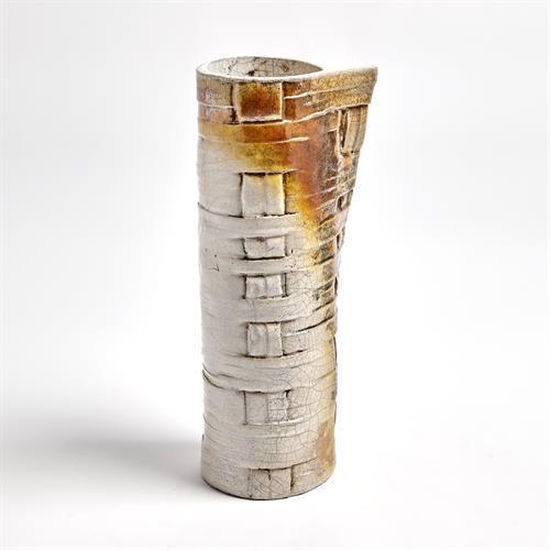 Wrapped Woven Vase-Raku