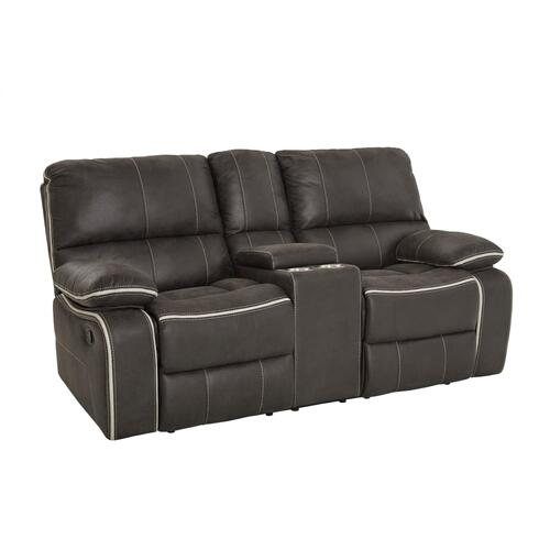 Arlington Charcoal Manual Reclining Loveseat, Grey