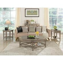 See Details - Parkdale - Oval Coffee Table - Dove Grey Finish