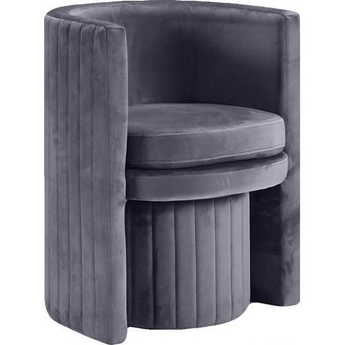 "Selena Velvet Accent Chair and Ottoman Set - 25"" W x 22.5"" D x 30"" H"
