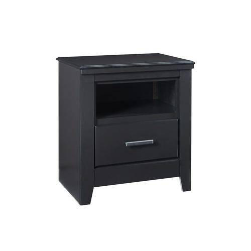 Modesto 2-Drawer Nightstand, Black
