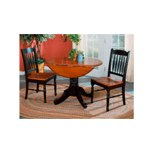 British Isles Dropleaf Table and 2 Chairs