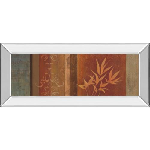"""Classy Art - """"Leaf Silhouette Il"""" By Jordan Grey Mirror Framed Print Wall Art"""