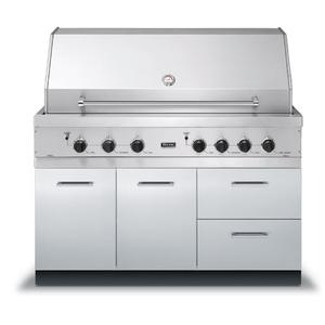 """Viking - 53"""" W x 30"""" D Grill Base - VQBO (53"""" with - Grill Base with 2 Drawers; 1 Door)"""