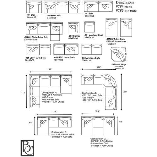 Braxton Culler Inc - Cambria 3-Piece Sectional