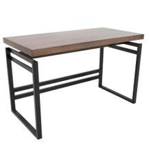 Drift Desk - Black Metal, Walnut Wood