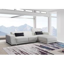 Divani Casa Hanson Mini Modern White Eco-Leather Sectional Sofa