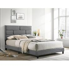 Flannery King Platform Bed Grey