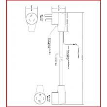 See Details - Dryer cord - 220V - 4-3 prong adapter