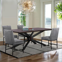 Pirate and Grey Napoli 5 Piece Modern Dining Set