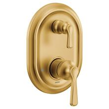 Colinet brushed gold m-core 3-series with integrated transfer valve trim