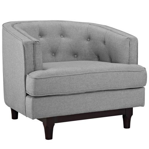 Modway - Coast Living Room Set Set of 3 in Light Gray