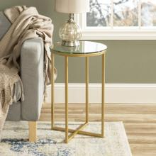 View Product - Alissa Side Tables - Gold and Glass