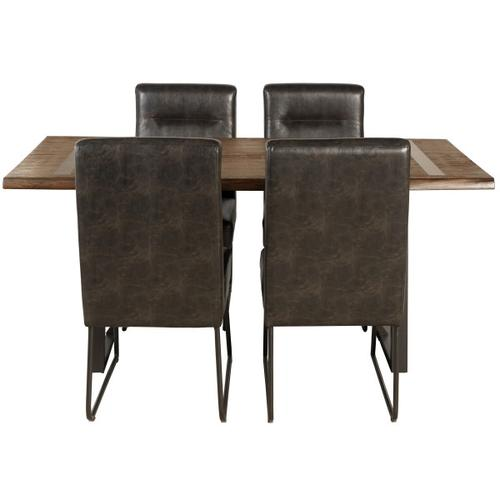 Industrial Faux Leather Dining Chair