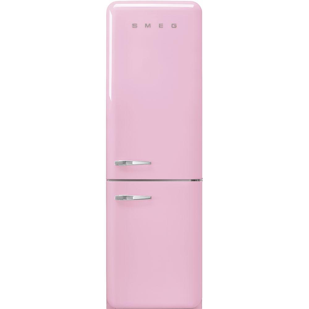 "Smeg'50s Style No Frost' Fridge-Freezer, Pink, Right Hand Hinge, 60 Cm (Approx 24"")"