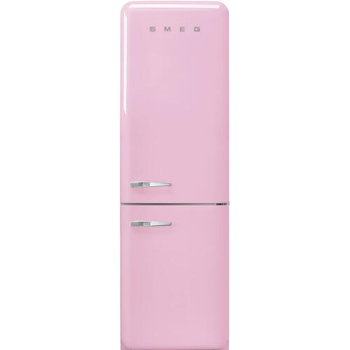 "'50s Style No Frost' Fridge-Freezer, Pink, Right Hand Hinge, 60 cm (Approx 24"")"