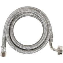 See Details - Braided Stainless Steel Dishwasher Connector with Elbow, 6ft