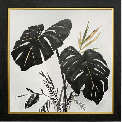 Style Craft - OASIS PALMS II  41in w X 41in ht  MADE IN USA  TEXTURED FRAME PRINT