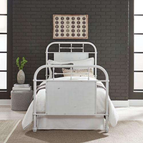 Liberty Furniture Industries - Twin Metal Bed - Antique White